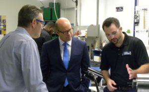 Stress Indicators Chief Engineer describes to Congressman Delaney how SmartBolts measure bolt tension.